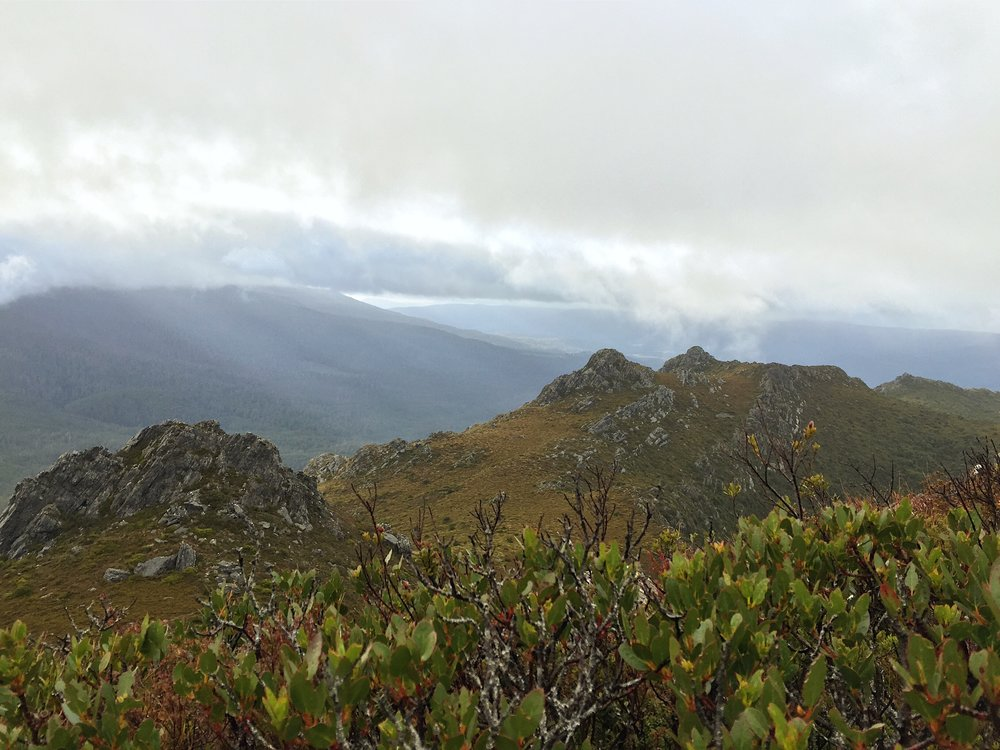 Tasmania's rugged South West mountains