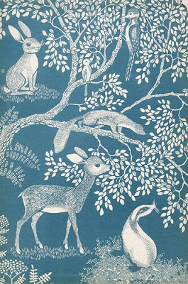 Woodland Creatures wallpaper -provenance unknown.My daughter would love this, but sadly it is vintage and unobtainable, but so delightful I couldn't leave it out! Kind of knocks spots off everything else.