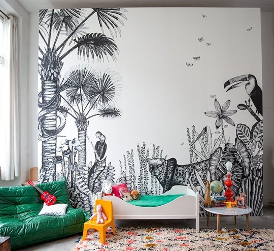 The Wild, by Minakani Walls. Just Stunning. (Like the rug too!).