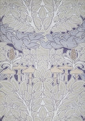 And lastlyanotherbeautiful Arts and Crafts designfrom Voysey. Such soft colours and simpleimagery. Oh and it' s called Fairyland. A bit of a 'full' design but the namemight just be theclincher for an accent wall.