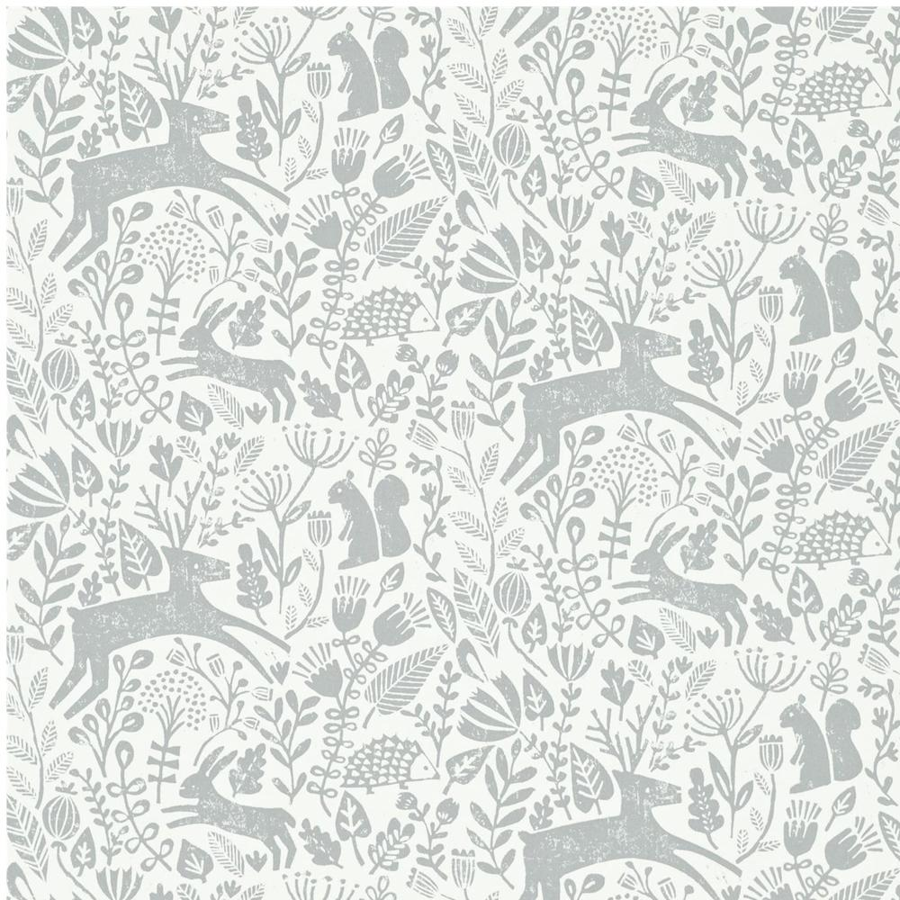 Kelda wallpaper, by Scion. What is not to love? The woodblock style is folksy and childlike all at once and is busy without being ovrebearing giving your little one lots to look at:prancing deer, snuffling hedgehogs and hopping hares. Woodland on a roll!