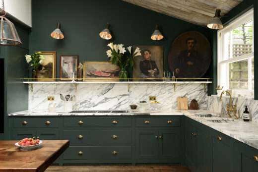 De Vol malachite green kitchen Peckham Rye