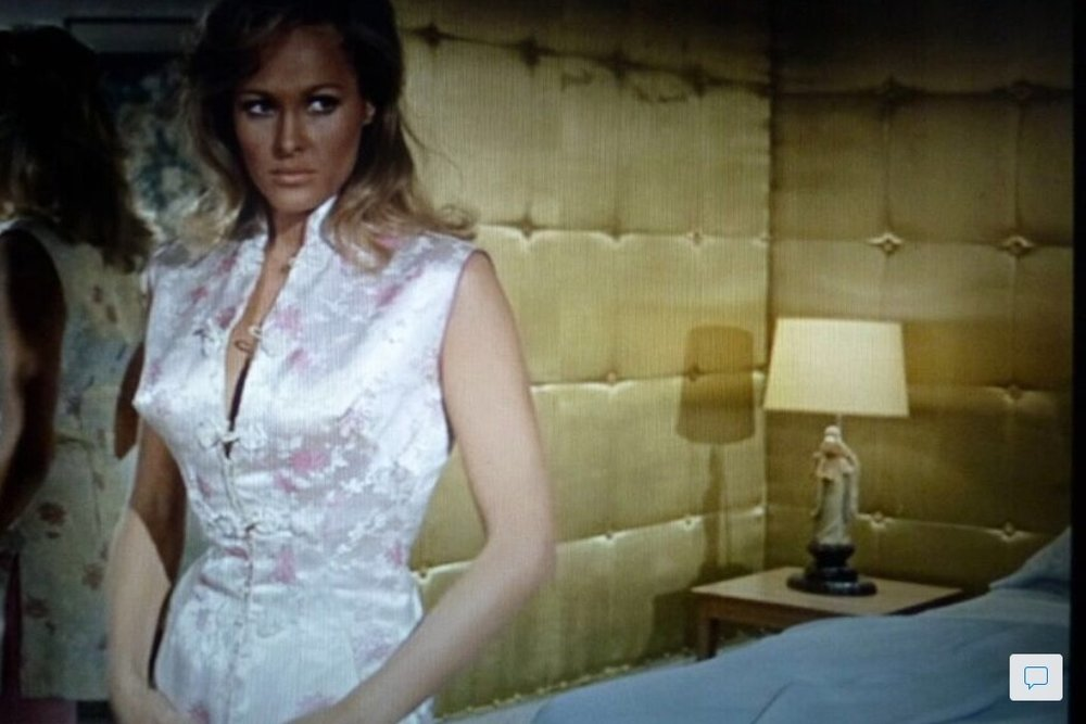 The Miami hotel in Goldfinger. I love the silk couched wall - I have appropriated this look for oversize bed headboards.