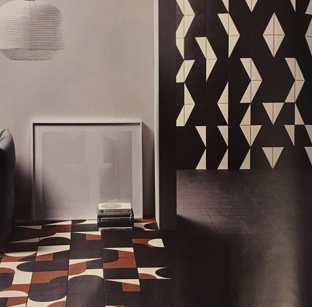 These new Puzzle tiles by Edward Barber and Jay Osgerby for Mutina will to work perfectly with the late 60s look.