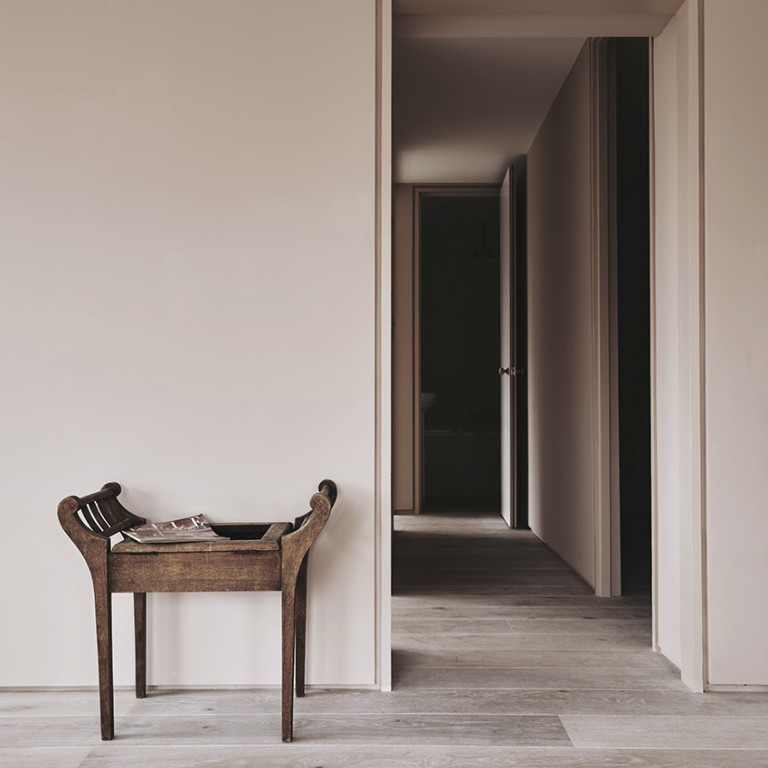 Peignoir by Farrow &Ball. The grown up grey pink will work in summer or winter, so perfect for an alpine hotel that operates in all seasons, and be a great ground for the brighter colours.