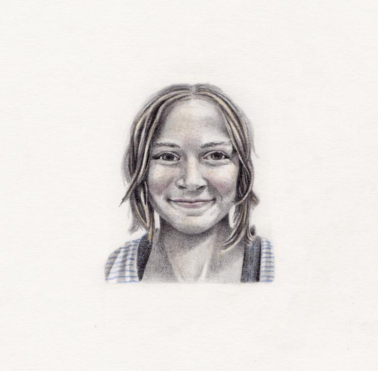 3 x 3 inch mini portrait