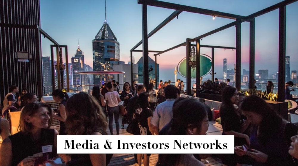 Receive complimentary invitations to join gatherings with angel investors, VCs,KOLs and media friends. You will have plenty of chances to meet with these key contacts.