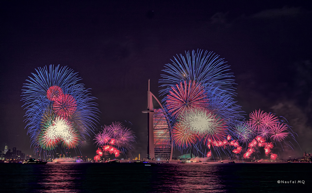 New Year fireworks in Burj Al Arab