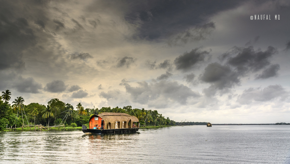 Houseboats in Kumarakom, Kerala