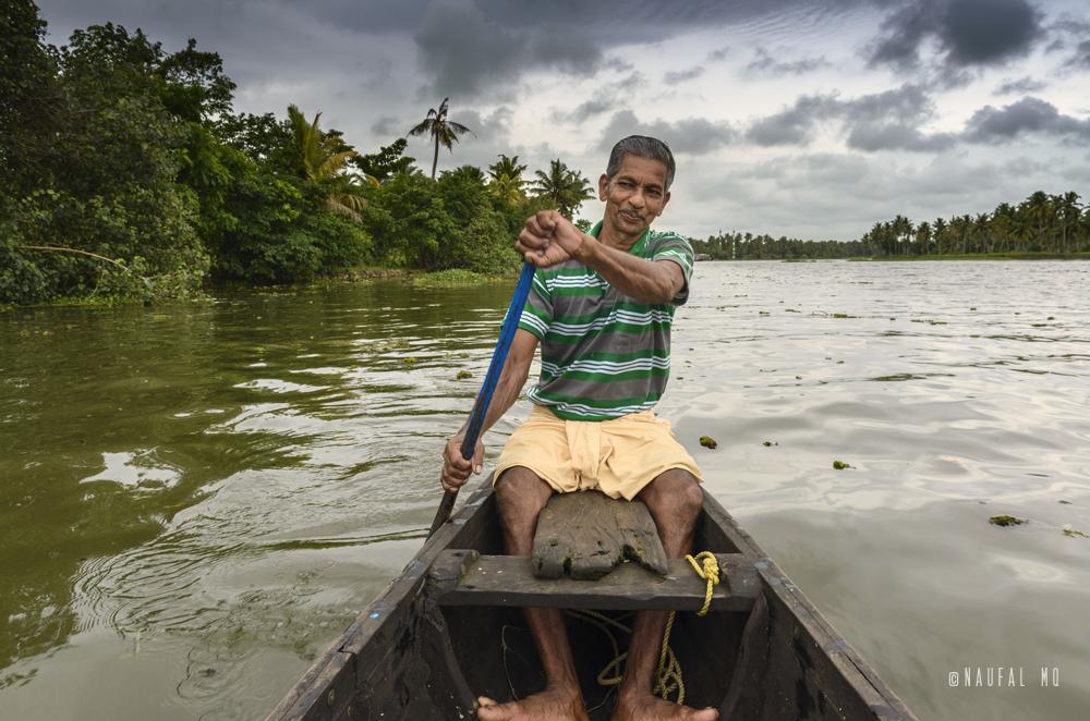 Boat ride in Kumarakome, Kerala