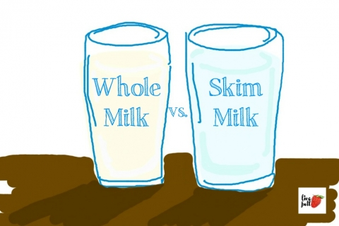 Image result for whole milk or skim milk