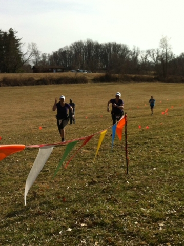 Check out the kick on Sandra & Kendra as they sprint toward the    finish line after 8 hours and 31 miles of trails! Amazing...