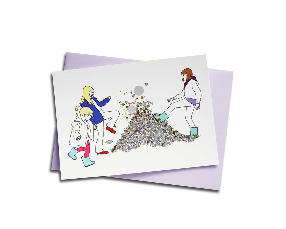 Carte postale - Les feuilles