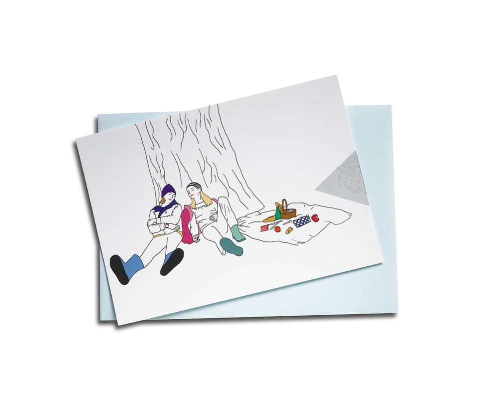 Scratch postcard - The picnic