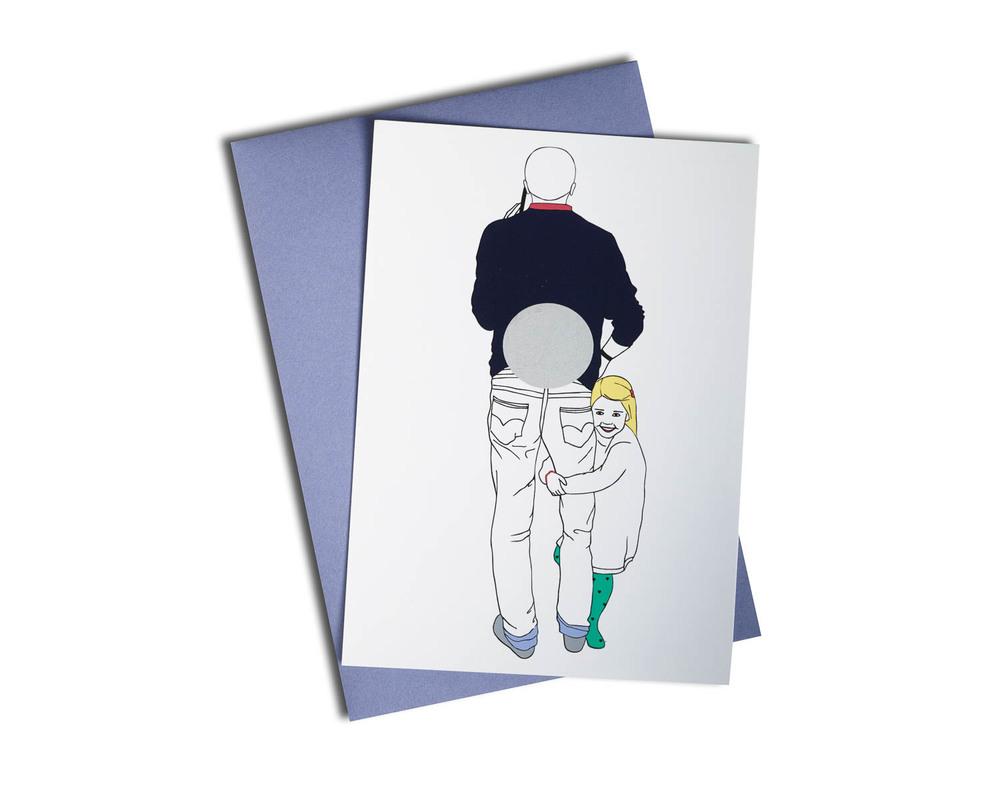 Scratch postcard - The joke