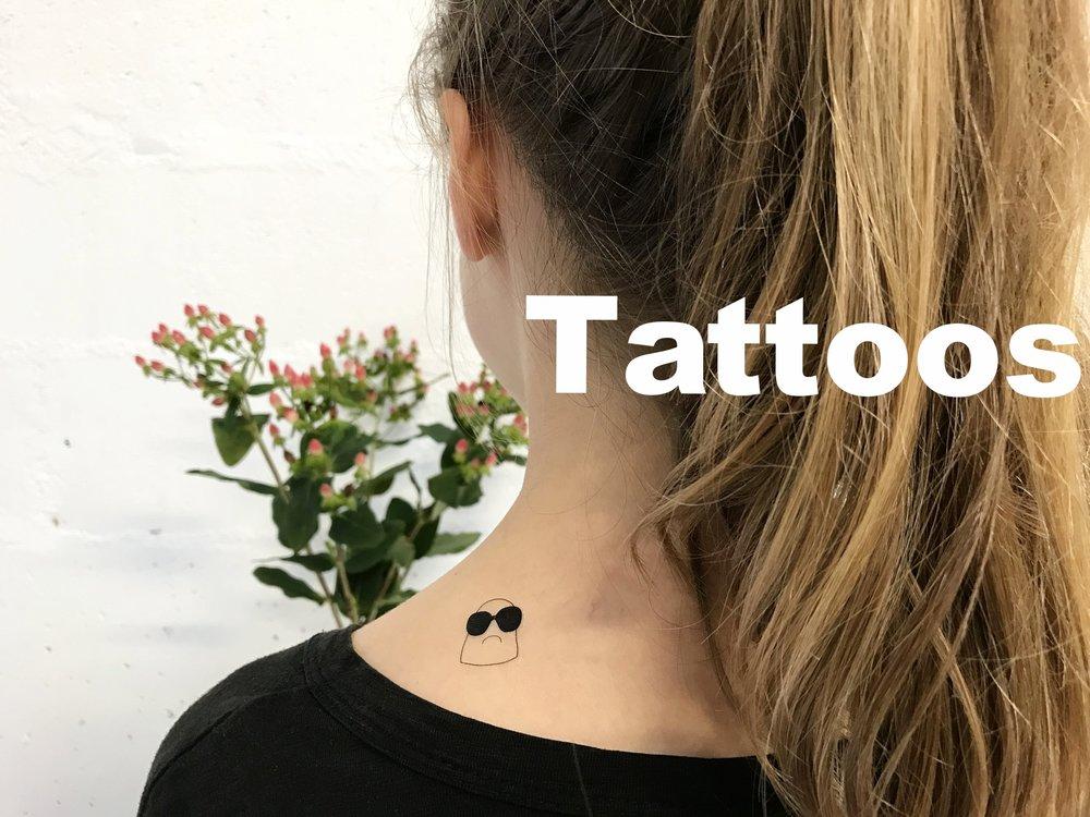 EMOTATTOOS - planche de tatouages éphémères