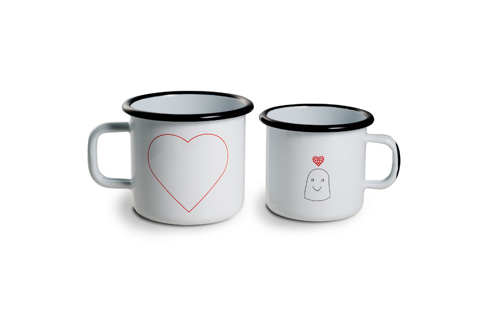 Duo enamel mugs secondaire