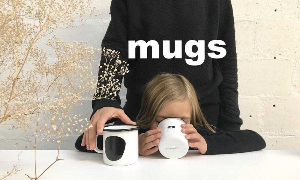 Duo Mugs Snobby  - mugs en acier émaillé