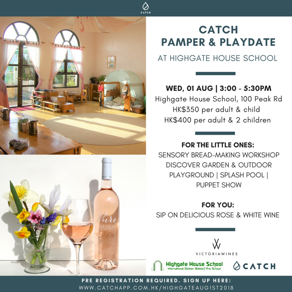 CATCH Pamper and Playdate Highgate House School Hong Kong