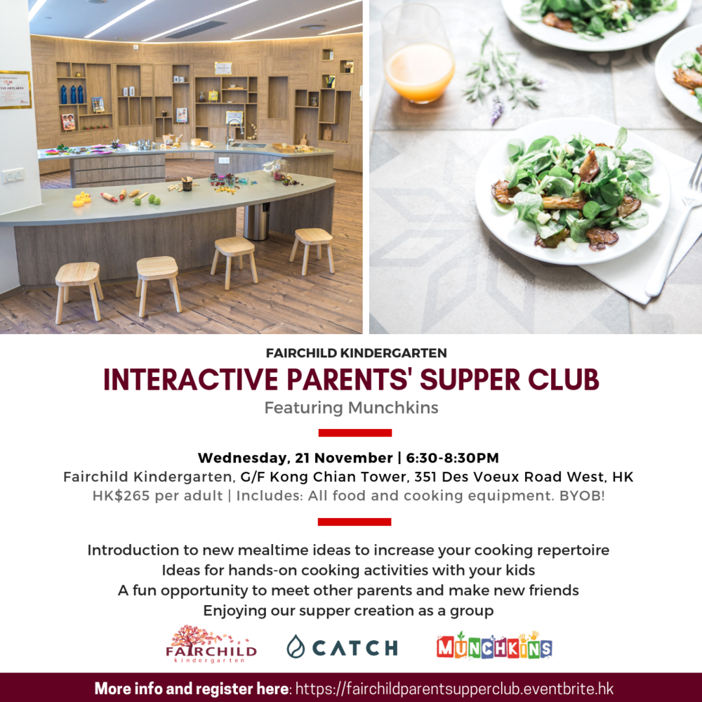 CATCH Fairchild Kindergarten Munchkins Parents Supper Club