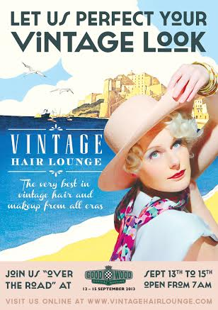thairapy vintage hair stylist @ Goodwood Revival for The Vintage Hair Lounge 2013