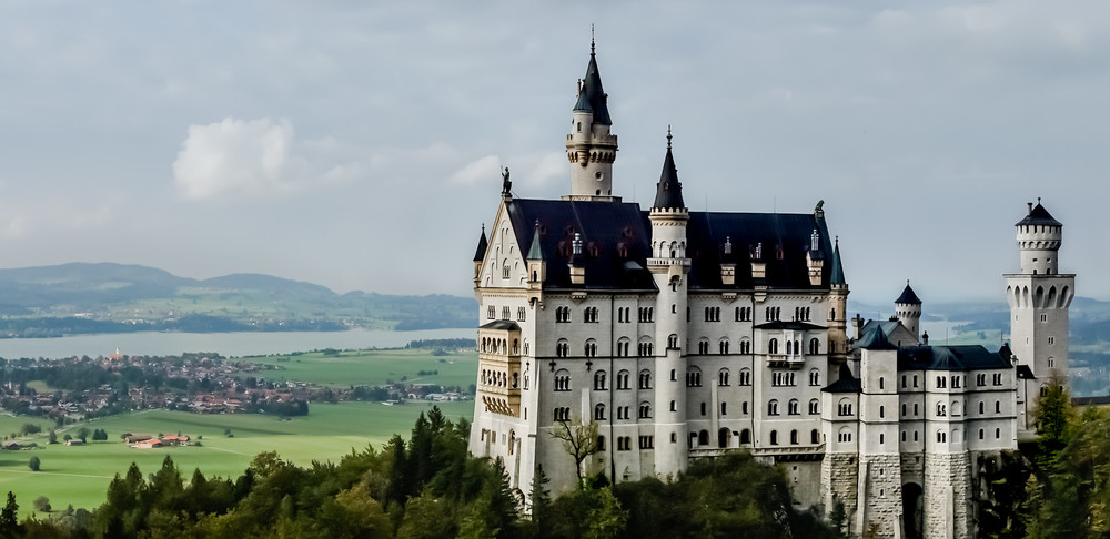 This photo of Neuschwanstein Castle in Germany's Bavaria was taken from Queen Mary's Bridge.