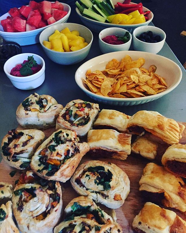 Easter feast to mark the end of this terms baking course! Chorizo sausage rolls, beetroot humous and vegetable pinwheels ✅