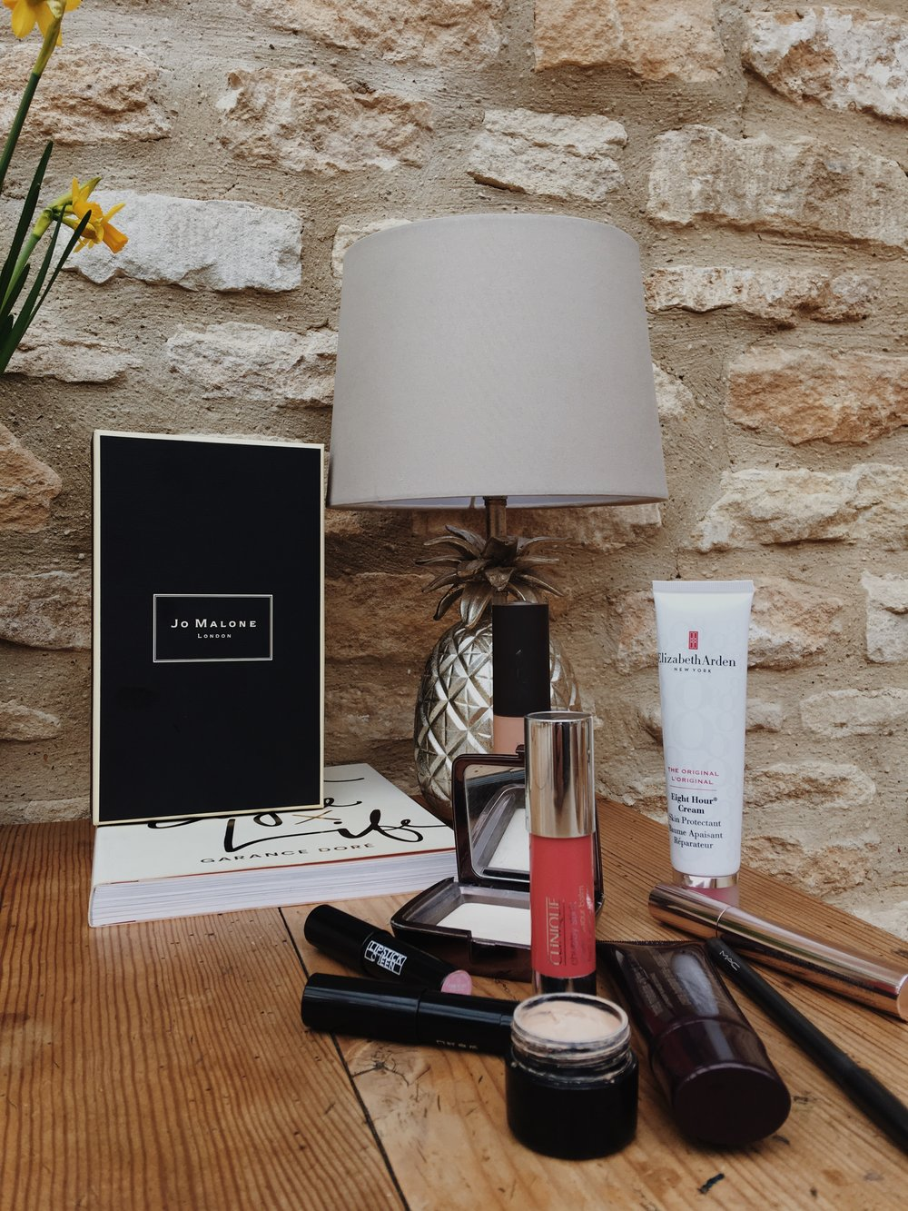 Glowing makeup routine