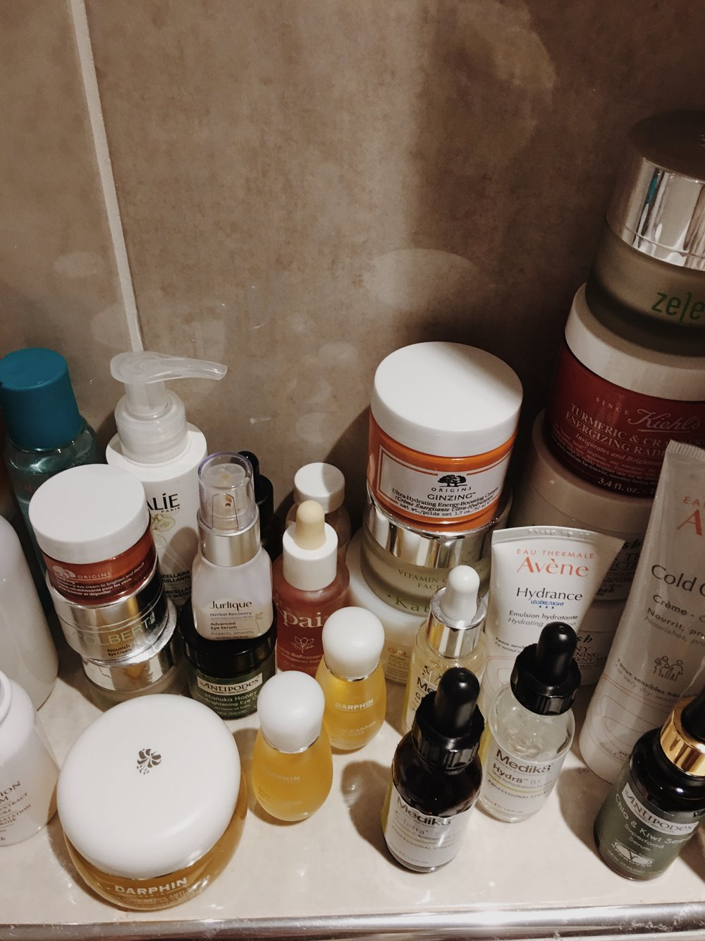 Bathroom Shelf Skincare