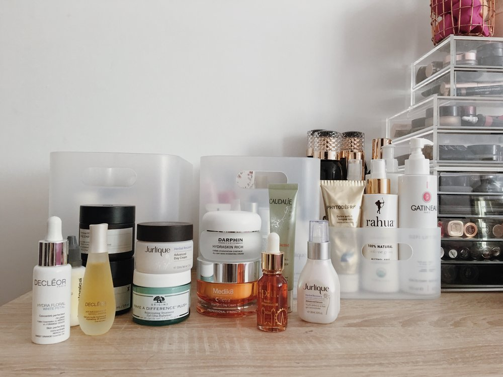 Skincare storage - jasminehardingmakeup