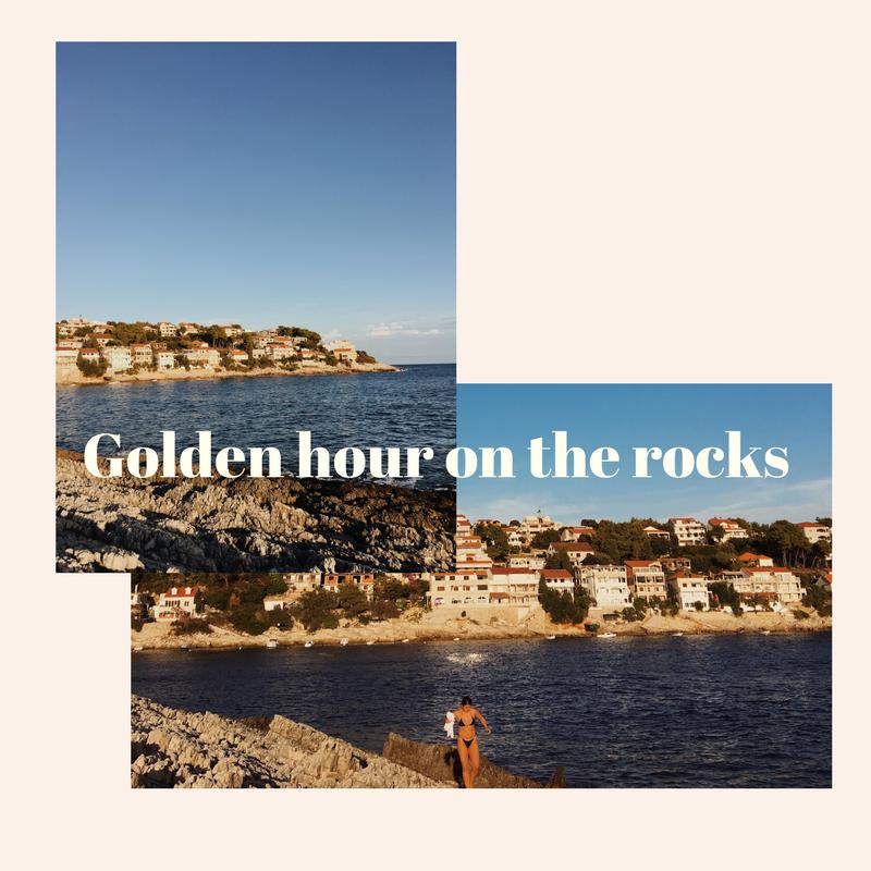 Golden hour on the rocks