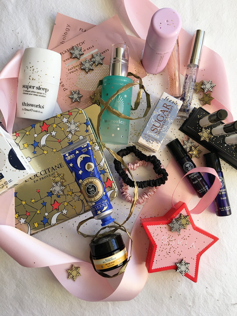 - T'is the season of gifting and I'm kick starting my Christmas Gift Guides this year with one of my favourites, the stocking fillers. A bundle of little gifts from socks, candles and books to beauty minis and baubles filled with a limited edition festive hand cream. In this beauty edit you'll find every skin, hair, makeup and travel essential you friend, Mum, sister or fellow beauty lover will need this Christmas.