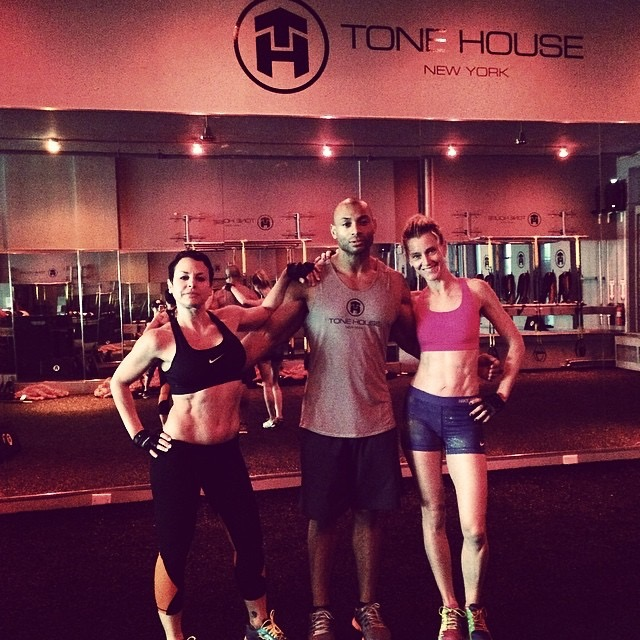 Natalie Raitano, Master Trainer,  Barry's Bootcamp, and Alonzo Wilson, Founder of Tone House