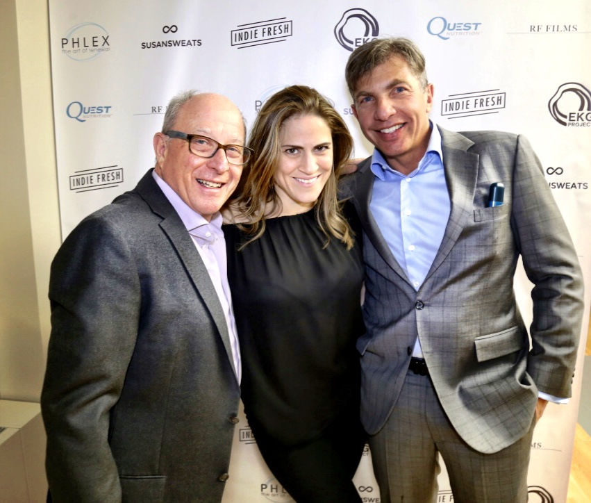 Owner of PHLEX, Dr. Kimberly Caspare, and client Mark Todes (L) Dr. Jonathan Glashow (R)