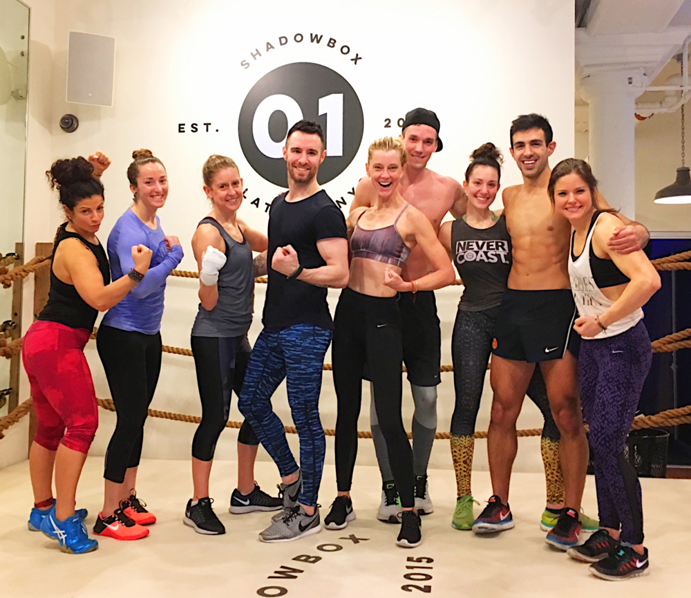 #FitFam to the Max! From L to R: Dyan Tsumis, Swerve, Sam Scaffidi, Soul Cycle, Sophie Johnson, Seth Maynard, Shadowbox & Swerve, Aaron Jay Harris, Lindsey Bracco, Flywheel, Lucas Paul, Mile High Run Club, Jenna Arndt, Swerve