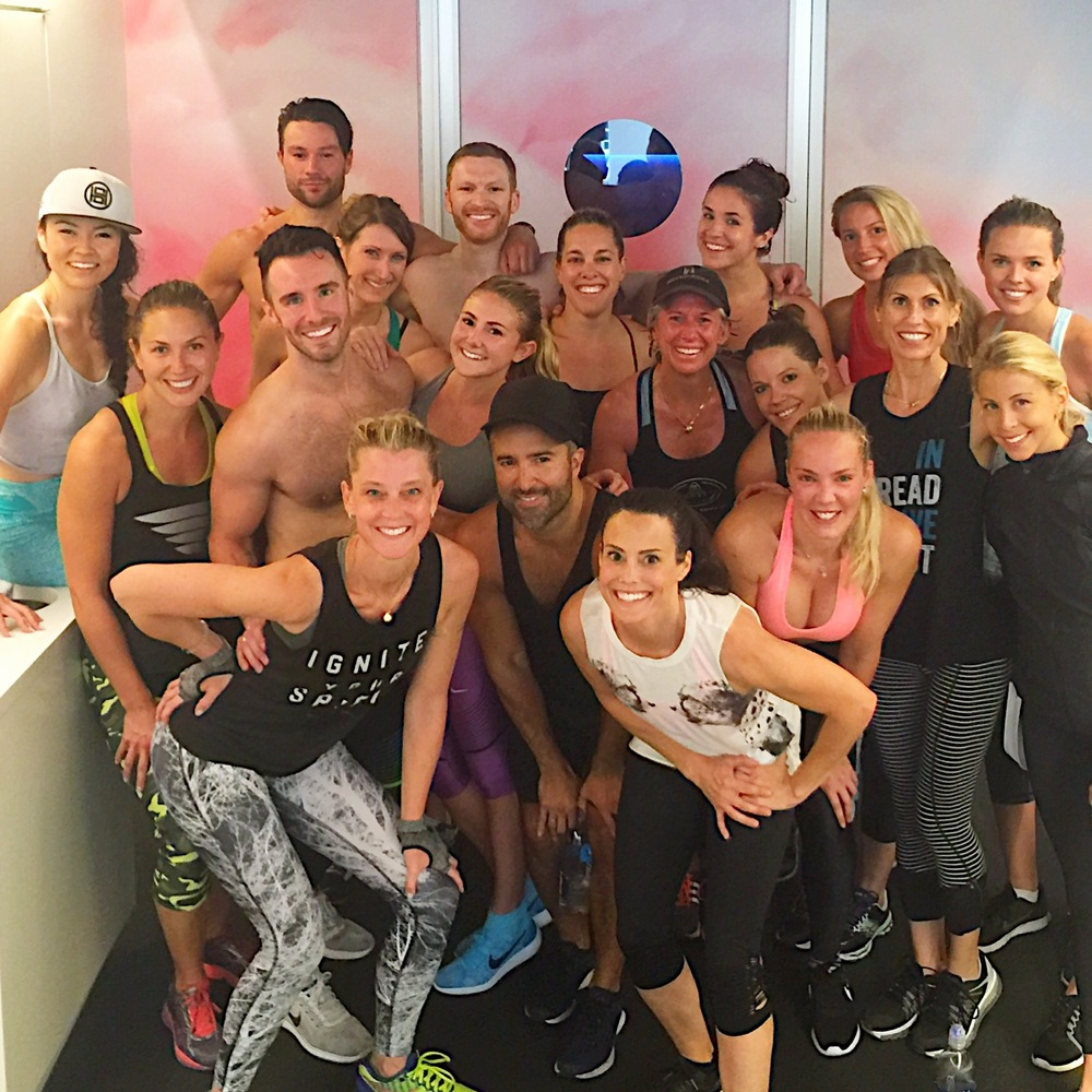 SusanSweats FitFam class at the Mile High Run Club, NOMAD