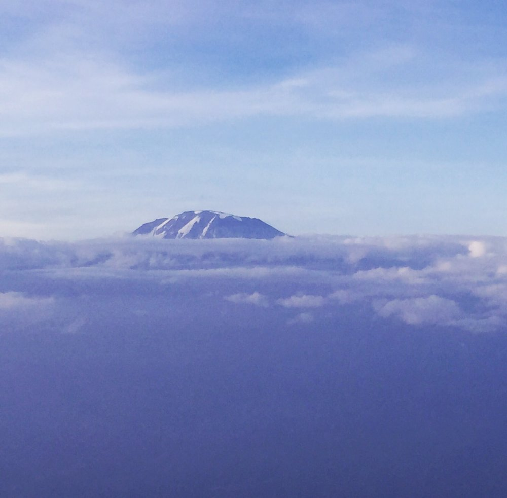 View of Kilimanjaro from the plane going home