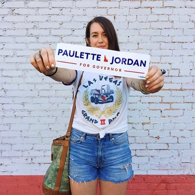 Hope y'all got out there today and voted!!! 💪🇺🇸 💙 #turnidahoblue #rockthevote #paulettejordan #representationmatters #voted
