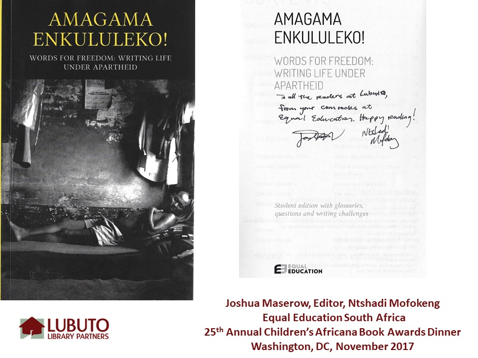 Amagama Enkululeko!  by Joshua Maserow and Edited by Ntshadi Mofokeng