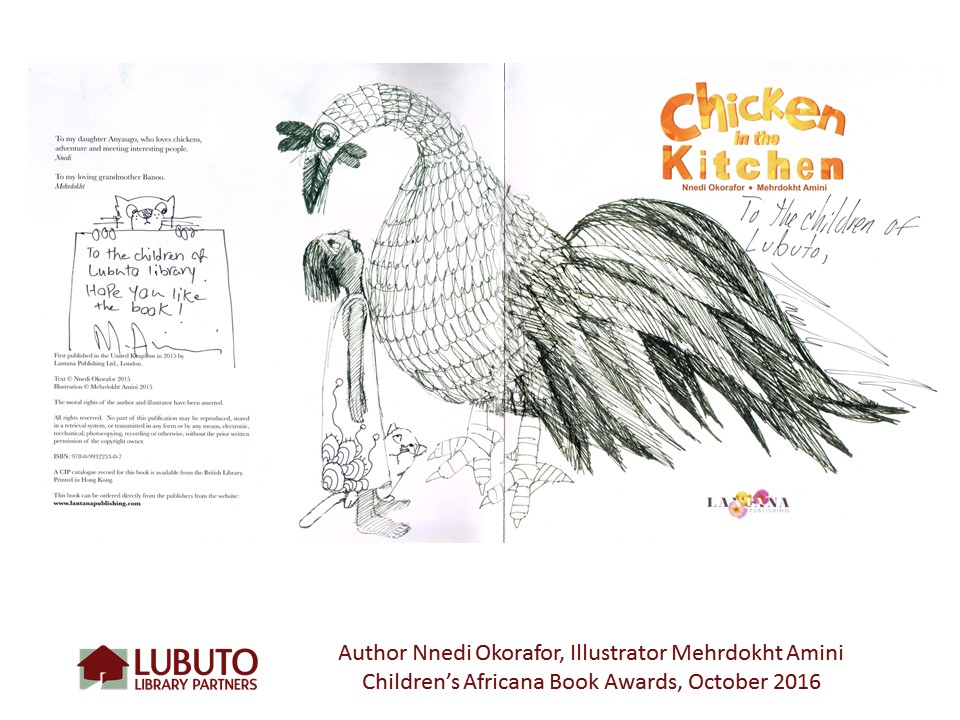 Chicken in the Kitchen  by Nnedi Okorafor and Illustrated by Mehrdokht Amini