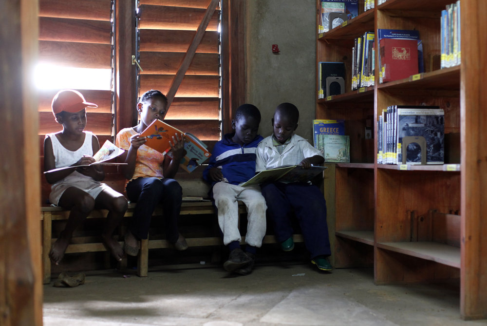 Children Reading at a Lubuto Library