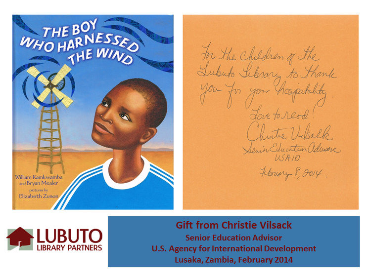 The Boy Who Harnessed the Wind  gift from Christie Vilsack