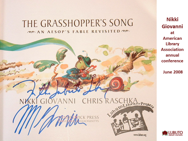 The Grasshopper's Song  by Nikki Giovanni and Chris Raschka