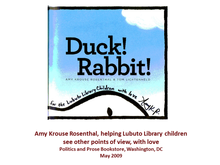 Duck! Rabbit!  by Amy K. Rosenthal