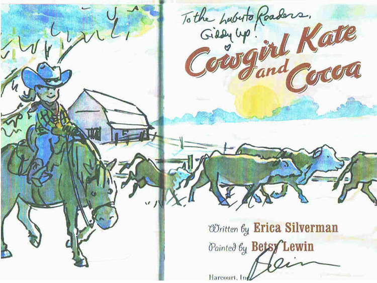 Cowgirl Kate and Cocoa  by Erica Silverman and painted by Betsy Lewin
