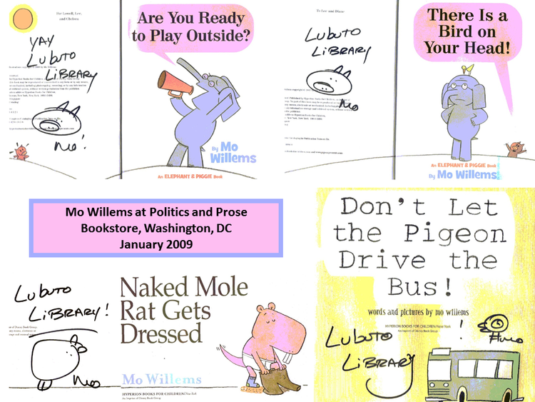 Are You Ready to Play Outside?  and  Don't Let the Pigeon Drive the Bus!  by Mo Willems