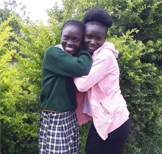 Tionenji pushed her younger sister Linda to join her at the DREAMS program in the Lubuto Library, where they both applied for school scholarships. Tionenji ended up receiving a partial scholarship from another source, while Linda received a full scholarship from DREAMS.
