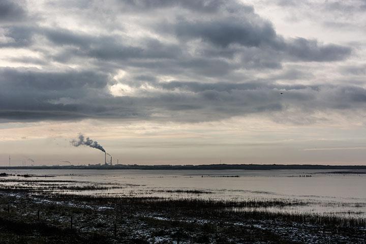 Blick nach Thyborøn, Januar 2015