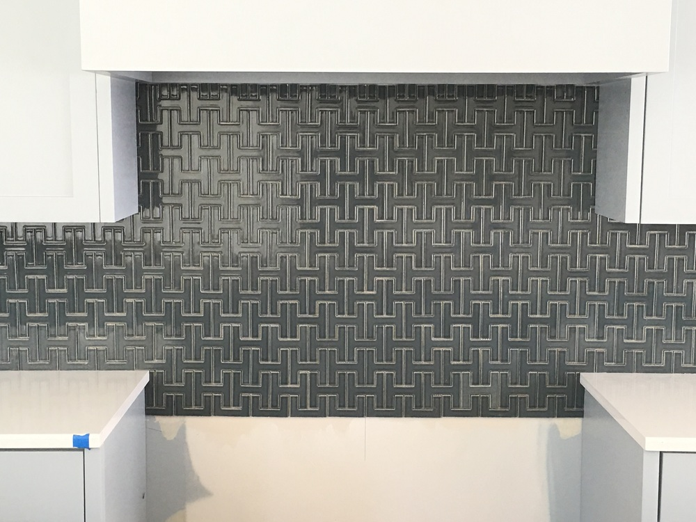 Unique kitchden backsplash