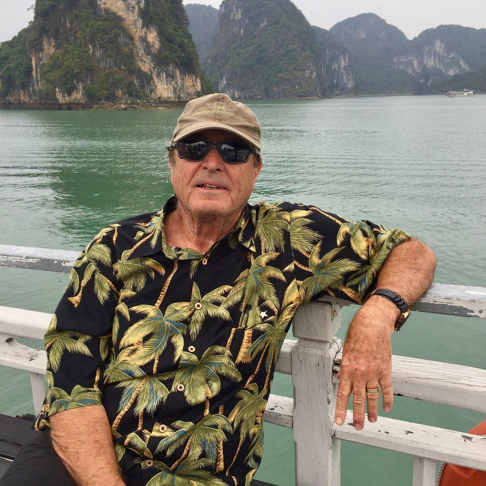 Author Paul Theroux, Ha Long Bay, Gulf of Tonkin, Vietnam. (February 28, 2018).jpg